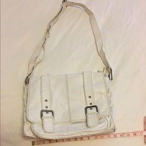 Aldo Handbags - Aldo white leather messenger bag