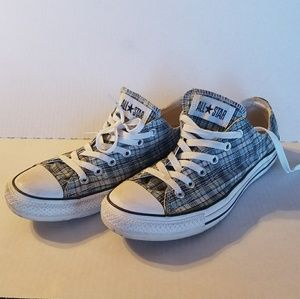 Converse Shoes - Converse Teal Plaid - women's 10