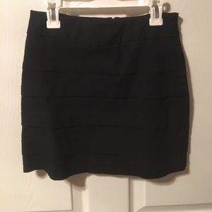 jcpenney Dresses & Skirts - Black tight layered skirt size S/M with elastic