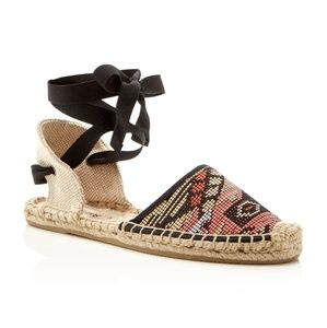 Soludos Shoes - NEW SOLUDOS LACE UP RAFFIA ESPADRILLES