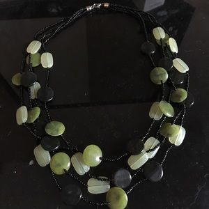 Black and green necklace