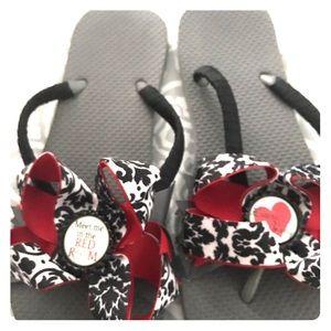 50 Shades of Grey inspired flip flops..,