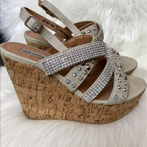 Not Rated Shoes - Not Rated bling bling stone wedges