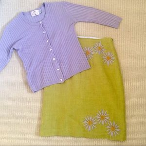 Tocca Sweaters - 💥SALE💥Tocca lilac stretch cotton cardigan size M