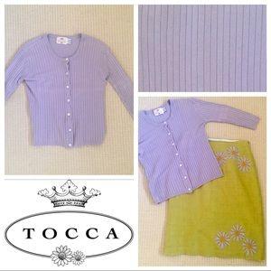 Tocca Sweaters - Tocca lilac stretch cotton cardigan size M