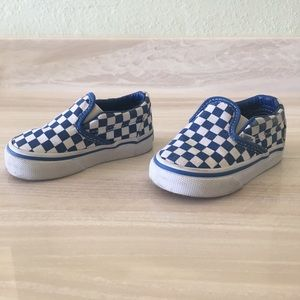 Vans Other - Blue and White Checkered Vans 4.5