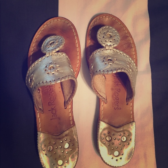 Jack Rogers Shoes - Jack Rogers Gold Sandals