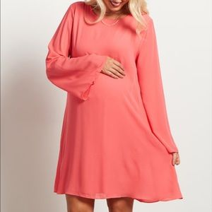 Pinkblush Dresses & Skirts - Pinkblush Maternity coral chiffon dress