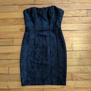 Tea n Cup Dresses & Skirts - Tea & Cup faux suede bustier mini bodycon dress