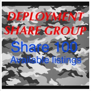 Monday Deployment share group 8pm-8pm