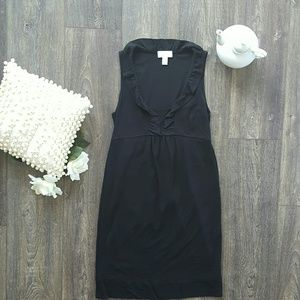 Ann Taylor Loft Black Dress Ruffles
