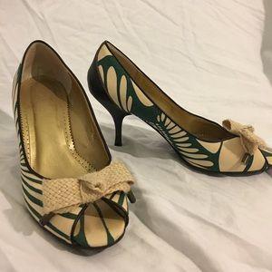 J. Crew peep toe heels size 7