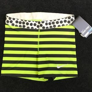 "Pro Stripe And Dot 3"" Compression Running Shorts"