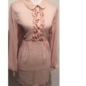 Motherhood Tops - Pink & Polka Maternity Top Size 1X