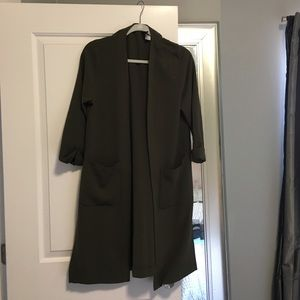 H&M Jackets & Blazers - LIKE NEW H&M Olive Green Long Blazer
