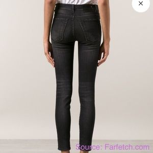R 13 Denim - R13 High Rise Jeans in Dirty Black SIZE 27