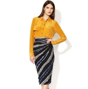 Cut25 by Yigal Azrouel Dresses & Skirts - Cut25 by Yigal Azrouel gathered side striped skirt