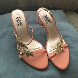 Carlos Santana Shoes - Carlos, Carlos Santana pink and green floral heels