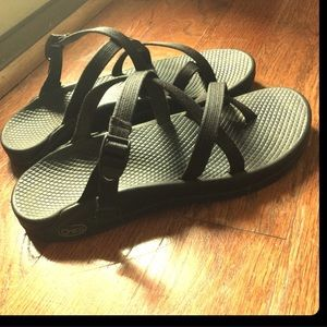 Chacos Shoes - CHACOS sandals black strappy size 8 Chaco