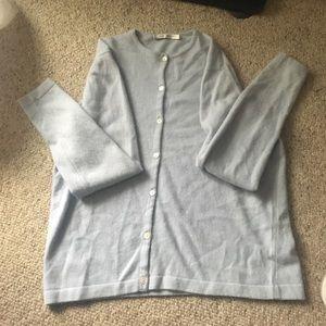 Ballantyne Sweaters - Ballantyne light blue cardigan