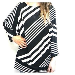 Dress Barn Tops - 🍎 Black and White Stripe Dressbarn Shirt! 🍎