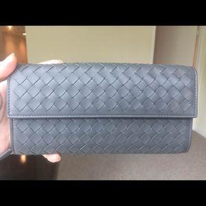 Bottega Veneta Continental Wallet, Gray