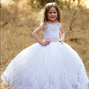 Triumphdress dresses white tulle flower girl dress with train triumphdress dresses white tulle flower girl dress with train mightylinksfo