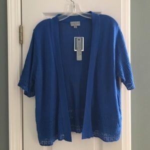Joseph Allen Sweaters - Royal blue short sleeve cardigan Size 1X