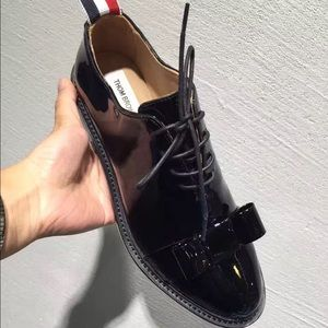 Thom Browne Shoes - Thom Brown Black Lace up Oxford Shoe
