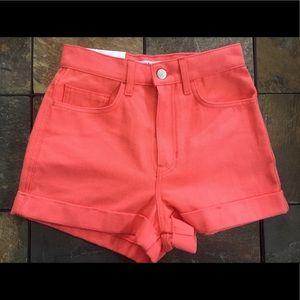 American Apparel Pants - 🆕 Denim High Waisted Shorts (Watermelon)
