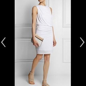 Helmut Lang Dresses & Skirts - NWOT Helmut Lang draped white jersey dress