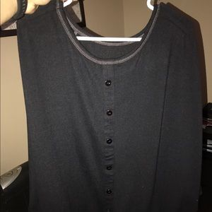 Brand new black blouse with bat sleeves