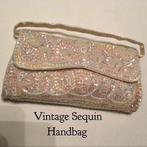 Vintage  Handbags - Vintage 50's Sequin Handbag removable strap