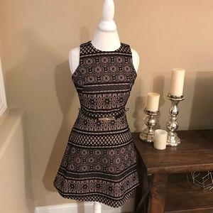 Black and Creme Eyelet Dress