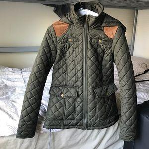 Krush Jackets & Blazers - Army green puffer jacket
