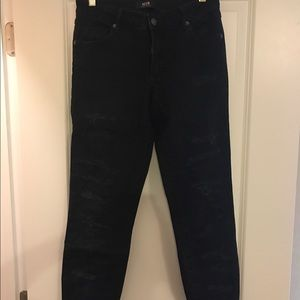 "Neuw Denim - Neuw ""Razor Skinny"" black distressed jeans"