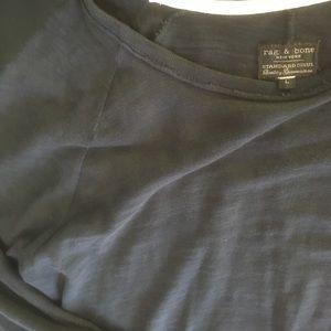 rag & bone Other - rag & bone black raglan long sleeve shirt - large