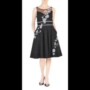 eshakti Dresses & Skirts - New Eshakti Black Floral Fit & Flare Dress L 12