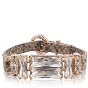 henri bendel Jewelry - Henri Bendel Leather Deco Strap Bracelet (Natural)