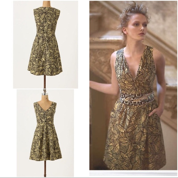 eb7de2f92b3a Anthropologie Dresses & Skirts - Anthropologie Weston Wear Emerging Leaves  Dress