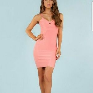 WOW couture Dresses & Skirts - Wow Couture Pink Classic Bandage Dress