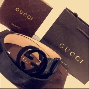 Gucci Other - Brand New with tag Black ImPrime Gucci Belt