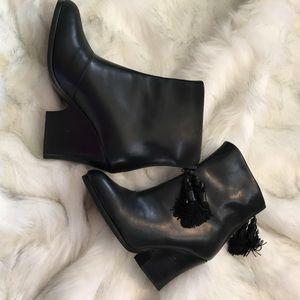 rag & bone Shoes - Rag & Bone Tacita Black Wedge Ankle Bootie Size 7