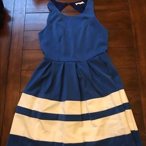 Sugar Lips Dresses & Skirts - Blue dress with pleated skirt