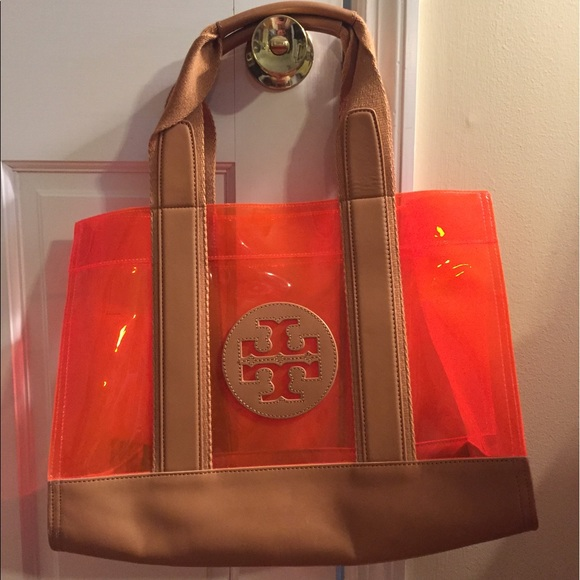 Tory Burch clear beach tote