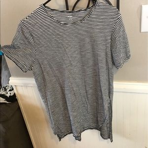 Long Black and White Striped Top