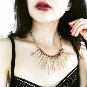 •carli• gold angular statement collar necklace
