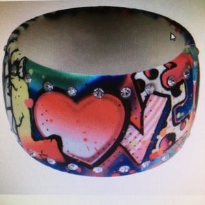 Jewelry - Multicolored Urban Graffiti Bangle