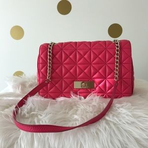 kate spade Handbags - Kate Spade Pink Quilted Bag