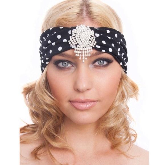 0a6d7e84051 Kristin Perry crystal polka dot turban headband